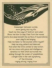 DOLPHIN POSTER A4 SIZE Wicca Pagan Witch Witchcraft Goth BOOK OF SHADOWS Totem