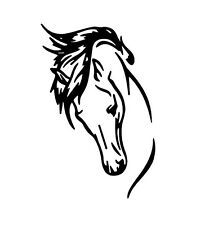 QTY 2 LARGE HORSE BLACK DECAL UTE 4WD HORSE FLOAT STICKERS