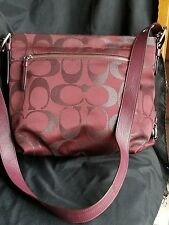 coach signature crossbody brown  bag