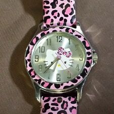 Sanrio Hello Kitty Pink Leopard Print Watch - HKAQ2633