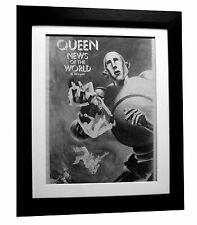 QUEEN+News Of The World+POSTER+AD+RARE ORIGINAL 1977+FRAMED+EXPRESS GLOBAL SHIP