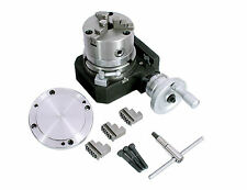 HV4 Rotary Table 110 mm Milling +100 mm chuck 3 jaws self centering+back plate
