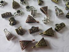 30 Tibetan Style Hangers antique silver bronze copper mix findings