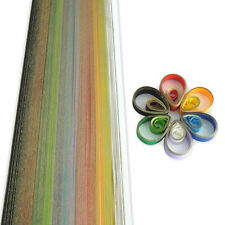 200 quilling self adhesive gold edge paper strips in assorted colours - 5mm