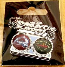 2014 Stanley Cup Playoffs lapel pin NHL SC Colorado Avalanche vs Minnesota Wild