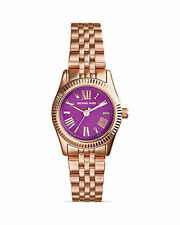 LADIES BRAND NEW MICHAEL KORS MINI ROSE GOLD LEXINGTON WATCH MK3273 RRP £169