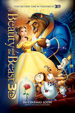 BEAUTY AND THE BEAST MOVIE POSTER 2 Sided ORIGINAL 2012 Re-Release 27x40