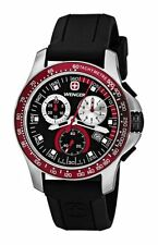 WENGER SPORT CHRONOGRAPH DATE BLACK DIAL RUBBER STRAP MEN'S WATCH 70789 NEW