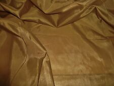 LIGHTWEIGHT SATIN LINING-ANTIQUE GOLD-DRESS LINING FABRIC-FREE P+P