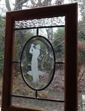 Perfect Golf Swing captured in Etched Glass. Mint