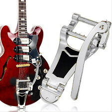 Chrome Tremolo Vibrato Tailpiece Bridge Hollowbody Archtop For Les Paul Guitar