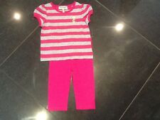 Juicy Couture New & Genuine Baby Girl Pink Cotton 2 Piece With Logo 6/12 MTHS