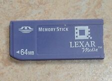 Original 64mb Lexar Memory stick 64 Mo vieille construction