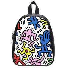 Custom Brand New Keith Haring Custom Kid's School Bag Backpack(Large)