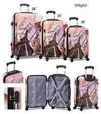 Paris' Eiffel Tower 3PC Hardsided Spinner Super Lightweight Luggage
