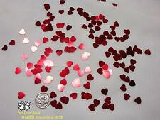 Wedding Table Scatters Foil Confetti Hearts - Red 5mm