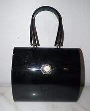 "VINTAGE WILARDY BLACK BAKELITE PURSE 8 1/2"" LONG 7 1/4"" TALL"