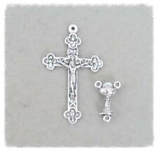 Rosary CENTER & CRUCIFIX Set ITALY First 1st Communion Centerpiece L111 Silver