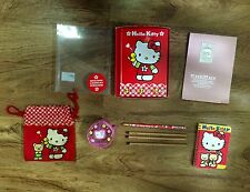 Hello Kitty Lot , Pencils, Notebook, cloth bag, coin bag MashiMaro Notepad