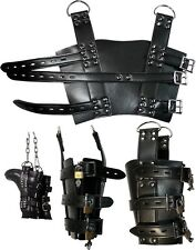 Ankle Boot Suspension Cuffs  Foot Binders Suspension Play 6 FREE Padlocks ZF003