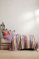 ANTHROPOLOGIE Hullabaloo KING QUILT+ 4 Shams TRACY REESE Comforter NEW