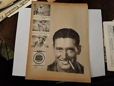 Ted Williams 1955 Lucky Strike Fishing Cigarette Advertisement Ad Scrapbook