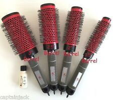 SET OF 4 Thermal XION Ceramic Round Hair Brushes SM MED LRGE JUMBO w/CHI BIOSILK