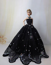 Fashion Royalty  Princess black Dress Clothes Gown  for Barbie Doll C061