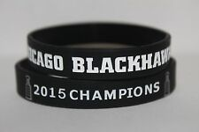 Chicago Blackhawks STANLEY CUP 2015 Champions Bracelet Wristband Banner Ring