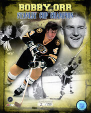 Bobby Orr Boston Bruins Stanley Cup Champion Limited Edition NHL Licensed 8x10