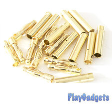 10 PAIRS 4MM GOLD BANANA BULLET CONNECTOR PLUGS