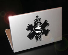 Powerbook Star of life sticker, Paramedic, Anesthetist, MD badge. Apple TV
