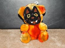 "7"" Dan Dee Dandee Orange Plush halloween Bear Wearing Sequins Mask"