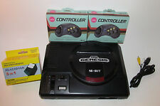 Sega Genesis Console Model 1 System Bundle w/ 2 New Controllers & Hookups!