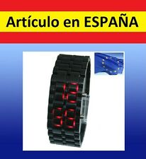 "Reloj de pulsera digital ""Samurai LAVA WATCH"" muy original luces led fashion"