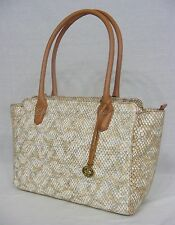 NWT! Brahmin Ashby Tote in Beige Parker.  Embossed Leather & Very Light Weight!!