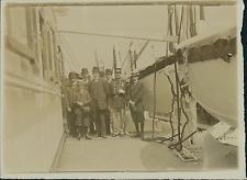 Belgique, Vue Prise du Pont d'un Navire  Vintage citrate print Tirage c
