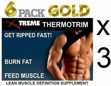 3x 6 Pack Fat Burner Lean Muscle Mass Growth Bodybuilding Burn Fat X Ripped Abs