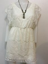 NEW FLORAL LACE VINTAGE FLOWER RETRO BOHO GYPSY DRESS LOLITA SEXY SMALL