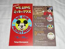 Tokyo Disneyland We Love Mickey Mouse Today Guide Rare Map Vintage 11/8-24, 1986
