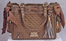 JUICY COUTURE LADIES LIGHT BROWN LARGE VELOUR DAYDREAMER BAG PURSE NEW WITH TAGS