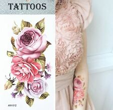 Roses Temporary Tattoo - 1 Sheet - Waterproof Arm Body Art