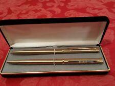 """Pierre Cardin Gold-Toned Pen & Pencil Set - Vintage - With Original Case 5 5/8"""""""