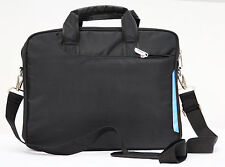 "Black Laptop notebook slim shoulder bag messenger carry case 13""  travel school"