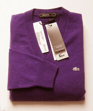 "Superbe Pullover neuf, Col V, 100% cachemire ""Lacoste-Devanlay"" - T. 3 ou S"