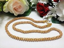 """Indian Bridal / Party Wear Mala Chain With Pearls Length (12"""") Inches"""