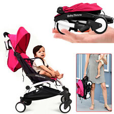 Travel Light weight Folding Compact Umbrella Red Baby Stroller Infant Pushchair