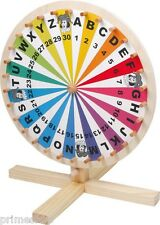 Colorful Wheel of fortune of wood 41 X 35 cm Kids Birthday Tombola New