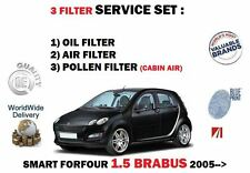 FOR SMART FORFOUR 1.5 BRABUS 454 2005-  NEW OIL AIR POLLEN 3 FILTER SERVICE KIT