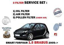 Per SMART FORFOUR 1.5 Brabus 454 2005 - > Nuovo Olio Aria Polline 3 Filtro Servizio Kit